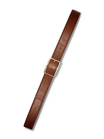 Curved Rectangle Buckle Belt - New York & Company