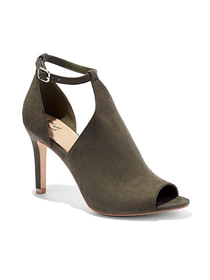 Cutout Faux-Suede Sandal  - New York & Company