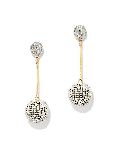 Dazzling Beaded Drop Earring - New York & Company