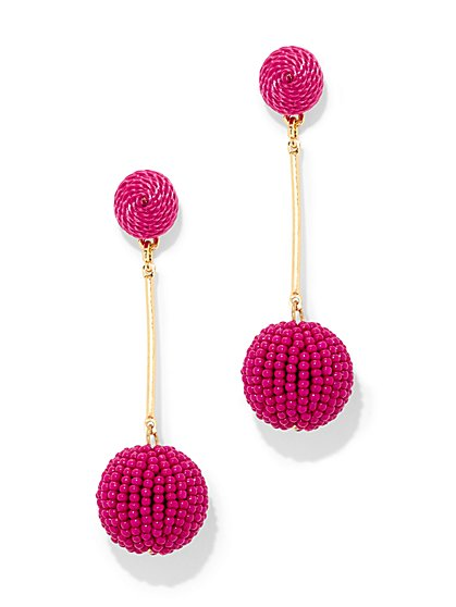 Dazzling Beaded Drop Earring - New York & Company