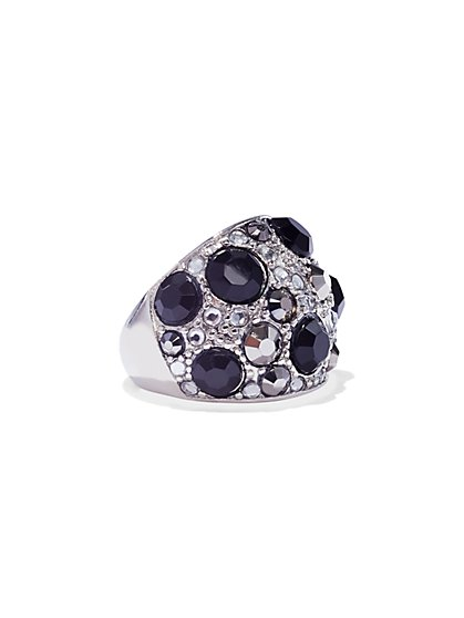 Dazzling Faux-Stone Dome Ring - New York & Company