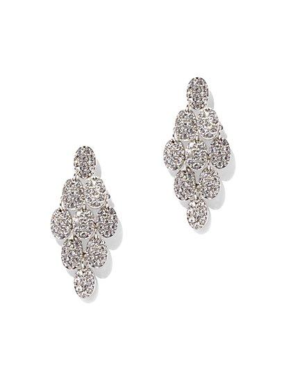 Dazzling Silvertone Chandelier Earring  - New York & Company