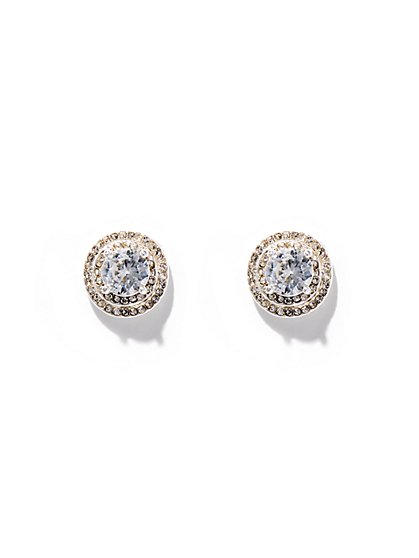 Dazzling Silvertone Post Earring  - New York & Company