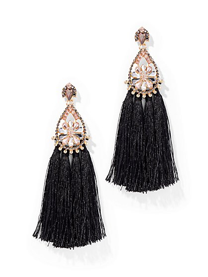 Dazzling Tassel Drop Earring  - New York & Company