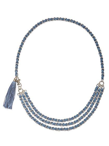 Denim Chain-Link Belt  - New York & Company