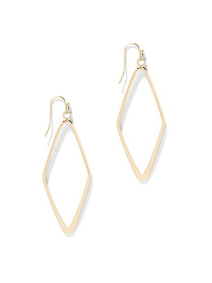 Diamond-Shaped Drop Earring  - New York & Company