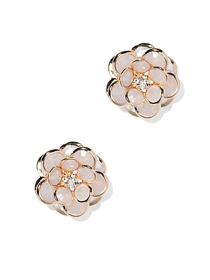 Dimensional Flower Earring  - New York & Company