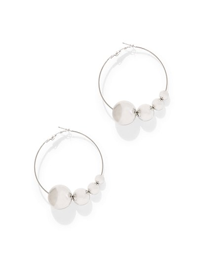 Disc-Accent Hoop Earring - New York & Company