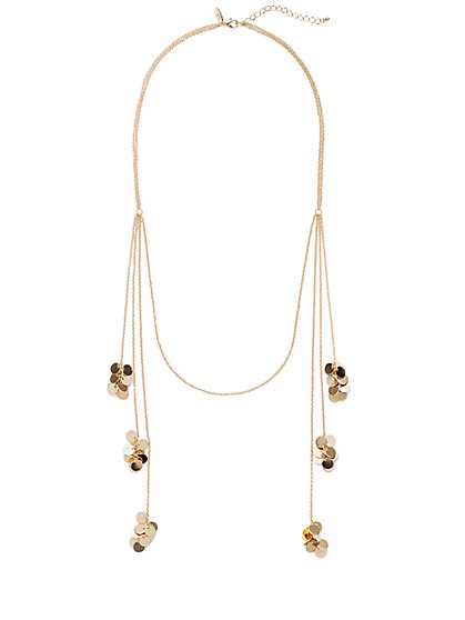 Disc-Accent Statement Necklace  - New York & Company