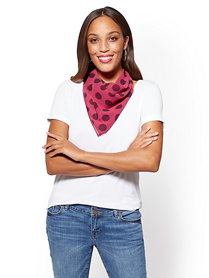 Dot-Print Neckerchief  - New York & Company