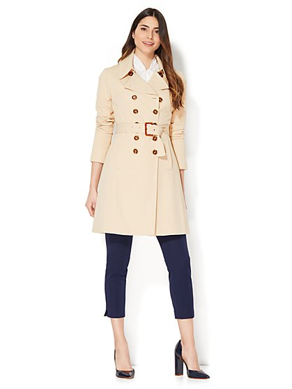 Double-Breasted Trench Coat - New York & Company