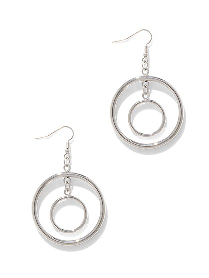 Double-Circle Drop Earring - New York & Company