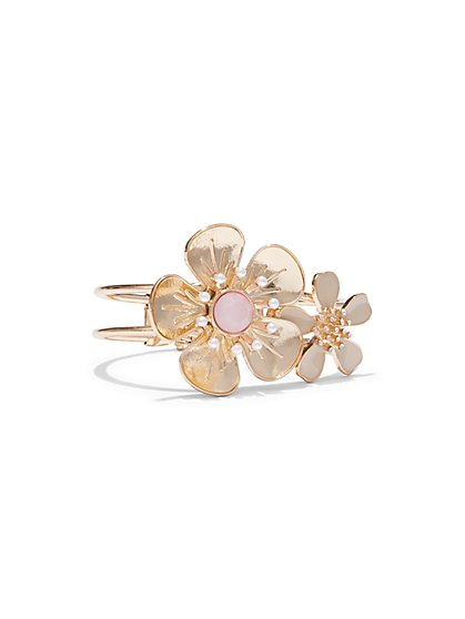 Double-Flower Cuff Bracelet  - New York & Company