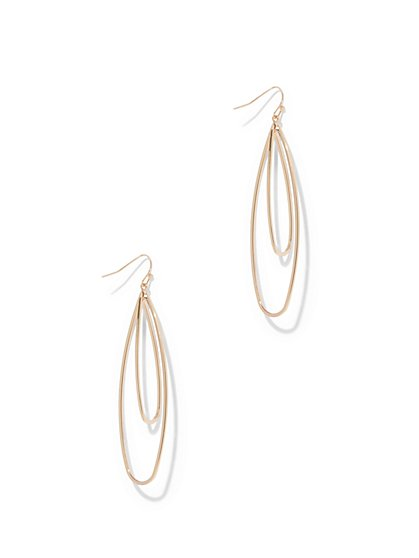 Double-Oval Linear Drop Earring  - New York & Company