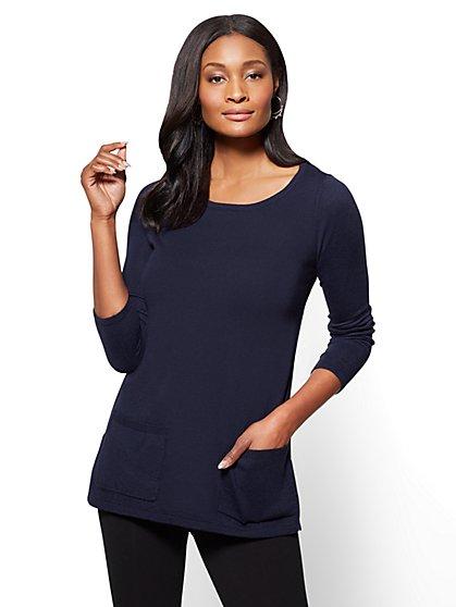 Double-Pocket Tunic Sweater - New York & Company