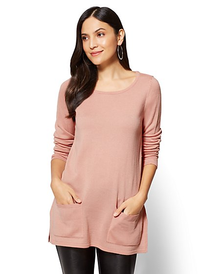 Double-Pocket Tunic Sweater - New York & Company