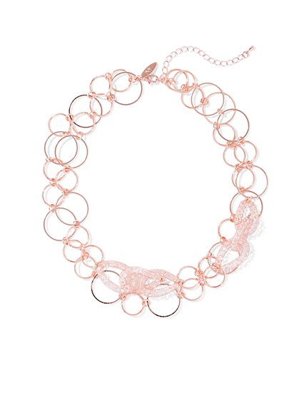 Double-Row Chain-Link Collar Necklace  - New York & Company
