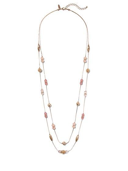 Double-Row Illusion Necklace  - New York & Company
