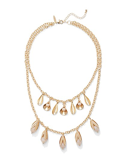 Double-Row Pendant Necklace  - New York & Company