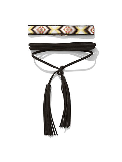 Double-Tassel Choker Necklace  - New York & Company