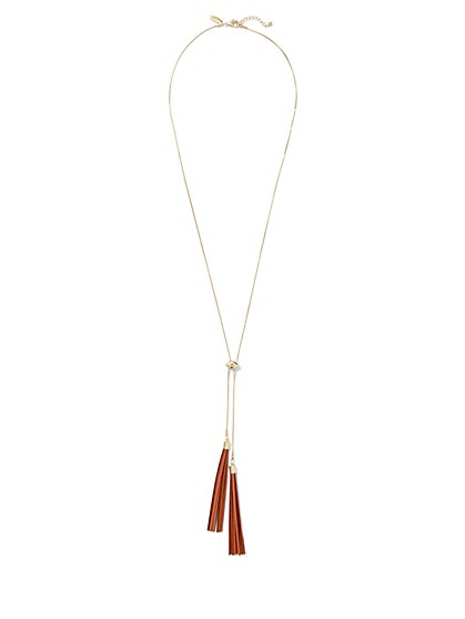 Double-Tassel Pendant Necklace  - New York & Company