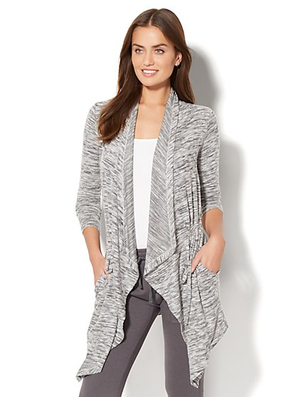 Draped Open-Front Cardigan - New York & Company