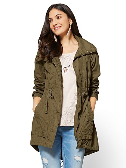 Drawstring Anorak Jacket  - New York & Company
