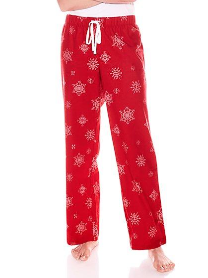 Drawstring Cotton Flannel Pajama Pant - New York & Company