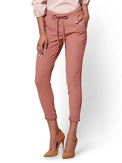 Drawstring-Tie Soft Pant - New York & Company