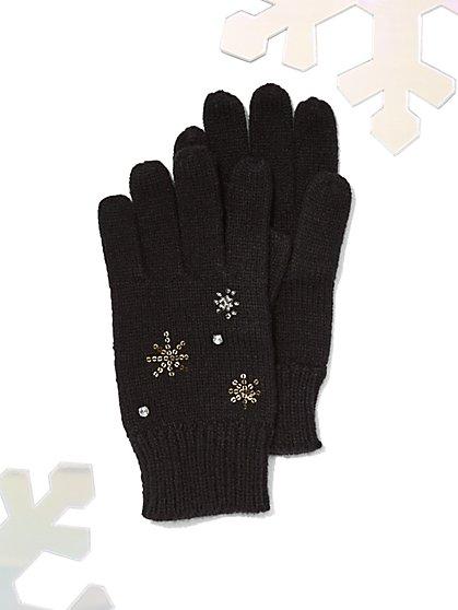 Embellished Knit Gloves - New York & Company