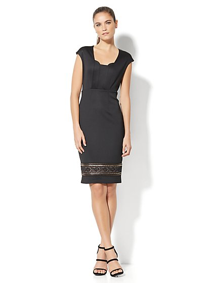 Embellished Sheath Dress - New York & Company
