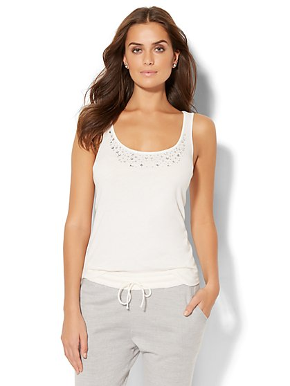 Embellished Tank Top - New York & Company