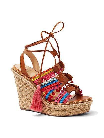 Embellished Wedge Sandal  - New York & Company