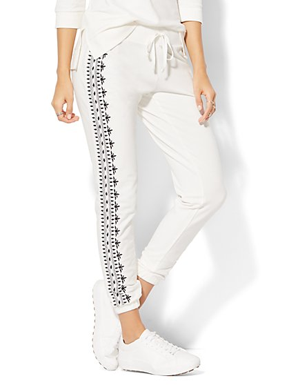 Embroidered Jogger Pant - New York & Company