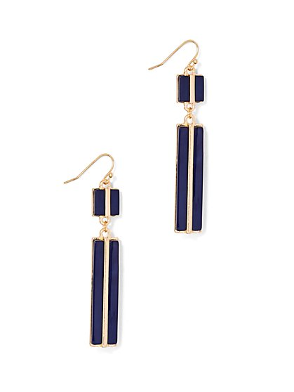 Enamel & Goldtone Drop Earring  - New York & Company