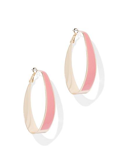 Enamel Hoop Earring - New York & Company