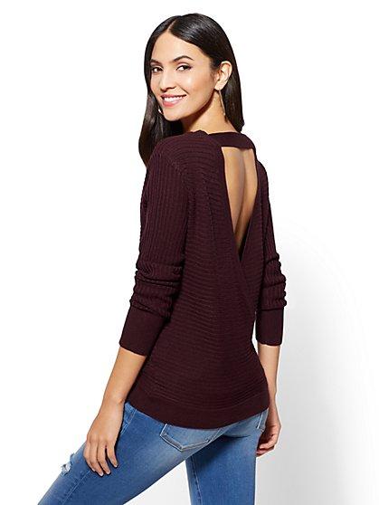 Envelope-Back Sweater - New York & Company