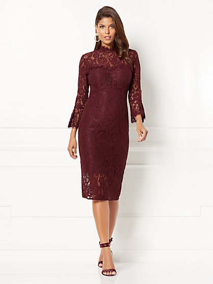 Eva Mendes Collection - Alexandra Lace Sheath Dress - Petite   - New York & Company