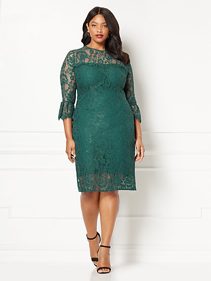 Eva Mendes Collection - Alexandra Lace Sheath Dress - Plus  - New York & Company