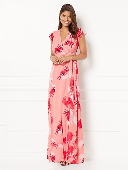 Eva Mendes Collection - Allison Wrap Dress - Floral - Petite - New York & Company