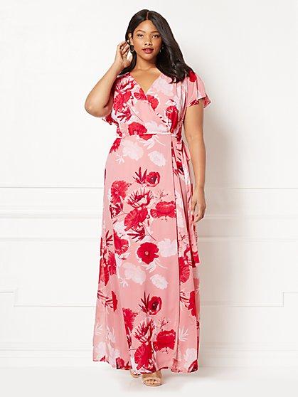 Eva Mendes Collection - Allison Wrap Dress - Floral - Plus - New York & Company