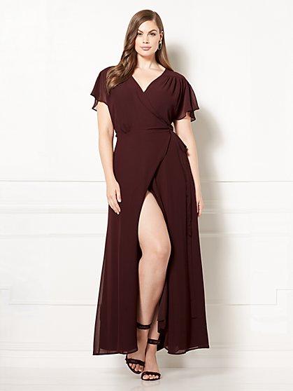 Eva Mendes Collection - Allison Wrap Dress - Plus - New York & Company