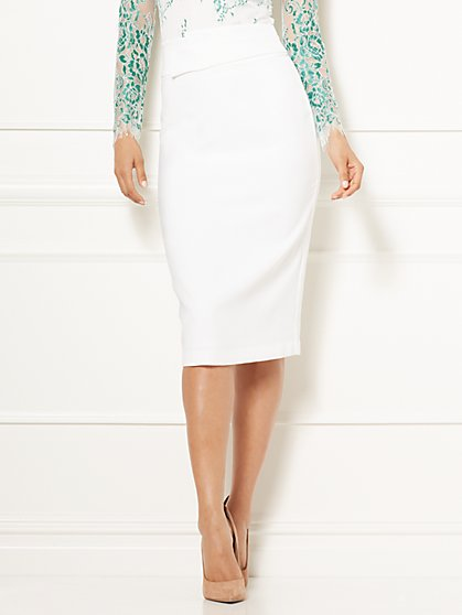 Eva Mendes Collection - Ana Origami Pencil Skirt - Petite - New York & Company