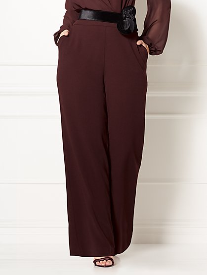 Eva Mendes Collection - Ana Palazzo Pant - Plus - New York & Company
