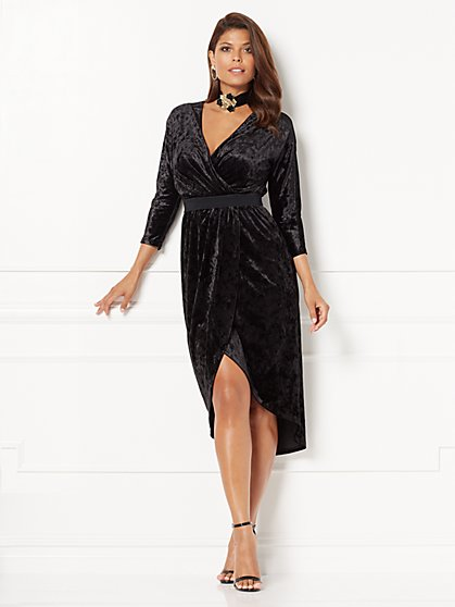 Eva Mendes Collection - Ani Velvet Wrap Dress  - New York & Company