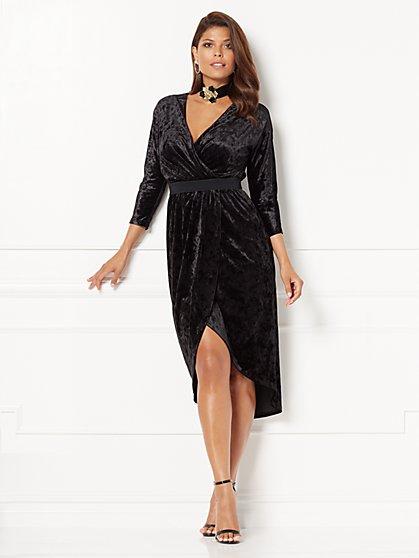 Eva Mendes Collection - Ani Velvet Wrap Dress  - New York & Company