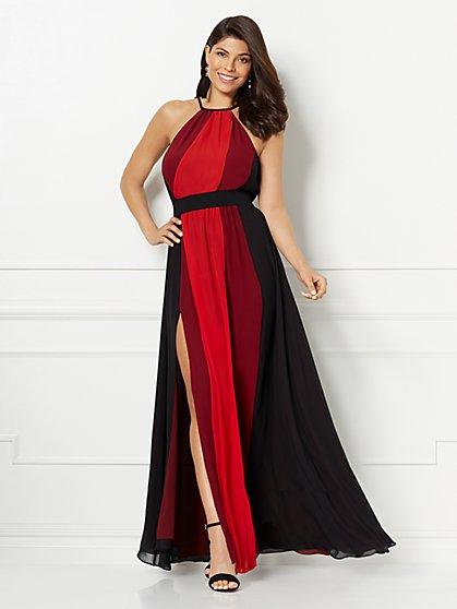 Eva Mendes Collection - Antonia Colorblock Maxi Dress - Tall - New York & Company