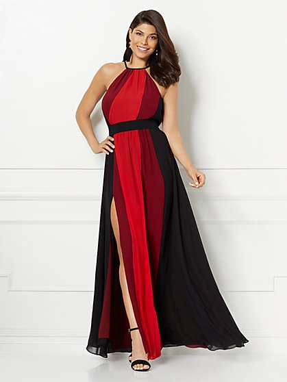 Eva Mendes Collection - Antonia Colorblock Maxi Dress - New York & Company