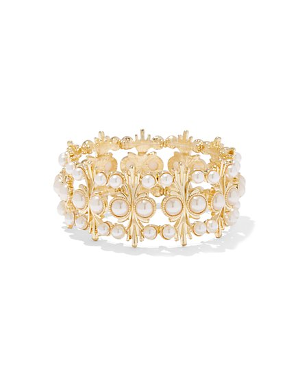Eva Mendes Collection - Beaded Goldtone Bracelet  - New York & Company