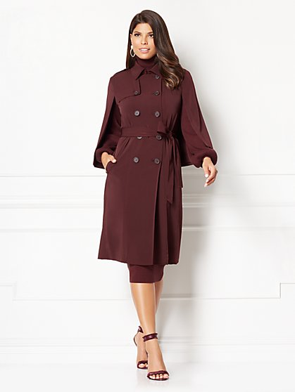 Eva Mendes Collection - Cabo Cape Trench Coat  - New York & Company